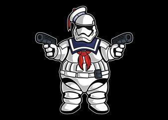 Marshmallow Trooper t shirt design png