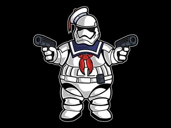 Marshmallow Trooper t shirt design png