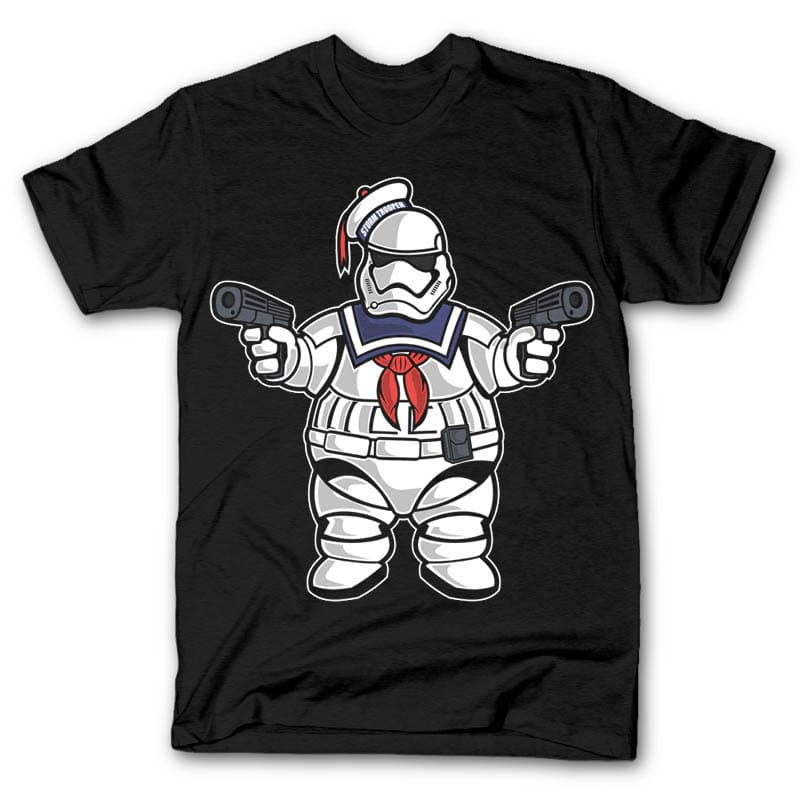 Marshmallow Trooper t shirt designs for sale