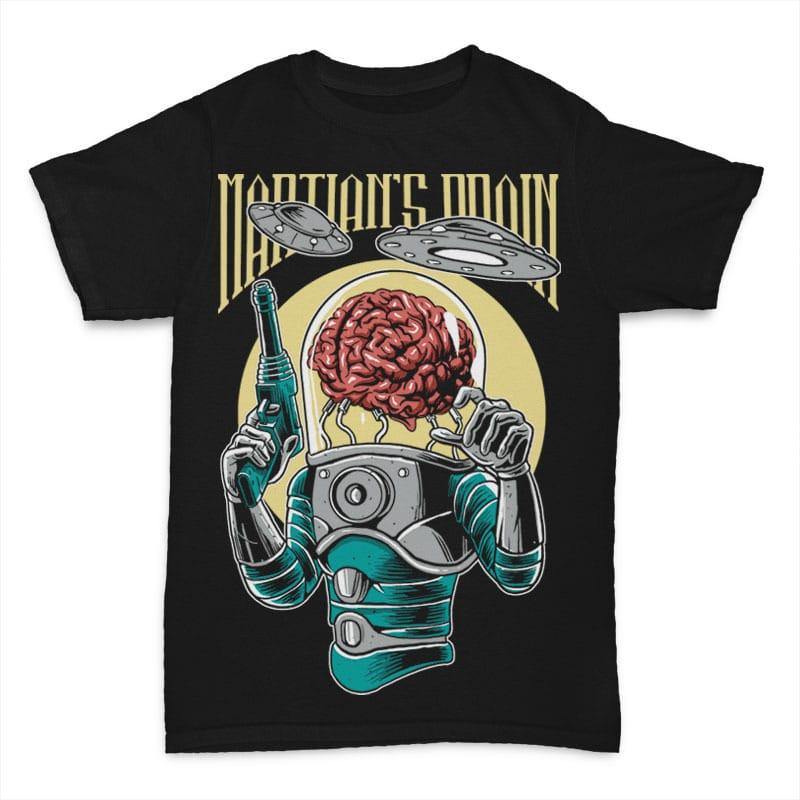 Martian's Brain Vector t-shirt design buy t shirt designs artwork