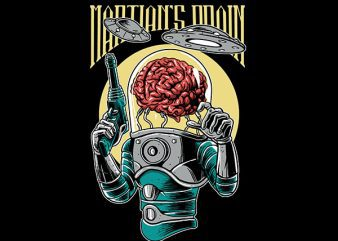 Martian's Brain Vector t-shirt design