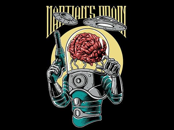 Martian's Brain Vector t-shirt design
