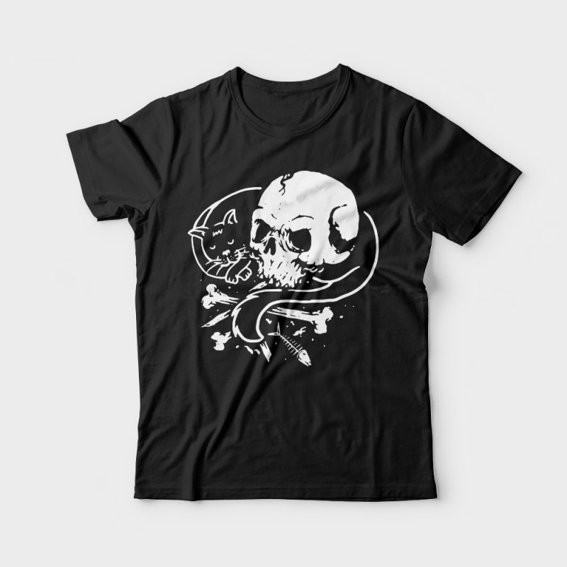 Dark Cat tshirt design for merch by amazon