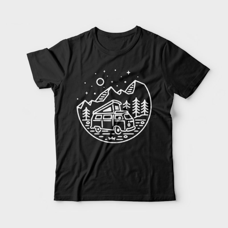 Go Outdoor t shirt designs for printify
