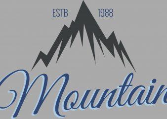 Mountain Hiking t shirt design to buy