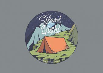 Night Camp Vector t-shirt design