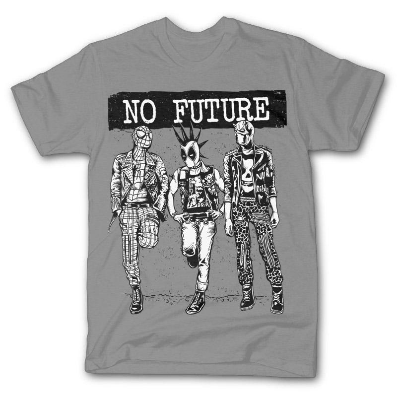 No Future Vector t-shirt design buy t shirt designs artwork