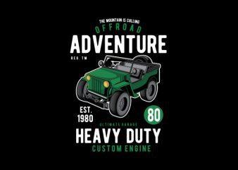 Off Road Adventure Graphic t-shirt design