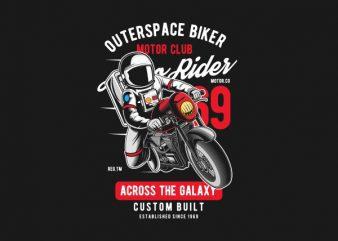 Outerspace Biker Graphic t-shirt design