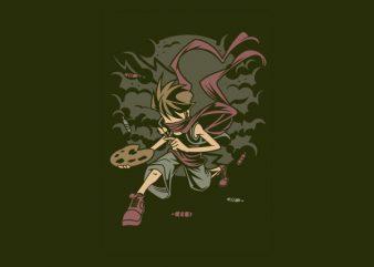 Painter Rebel Vector t-shirt design