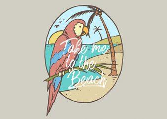 Paradise Bird Vector t-shirt design