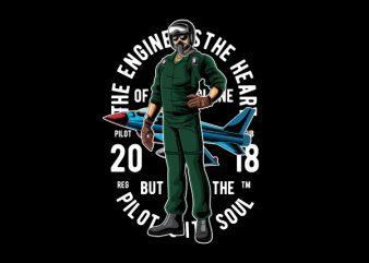 Pilot Vector t-shirt design