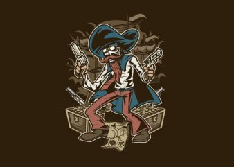 Pirate Treasure Vector t-shirt design