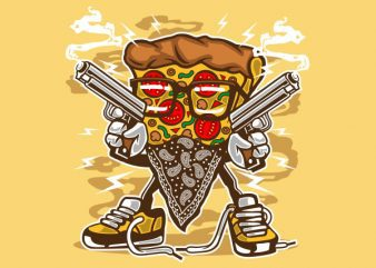 Pizza Gangster Vector t-shirt design