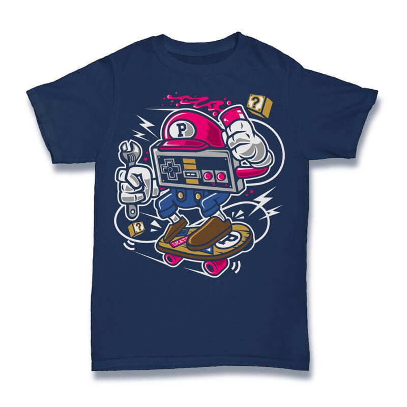 Player Skater Vector t-shirt design t shirt designs for printful