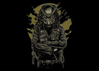 Predator Vector t-shirt design