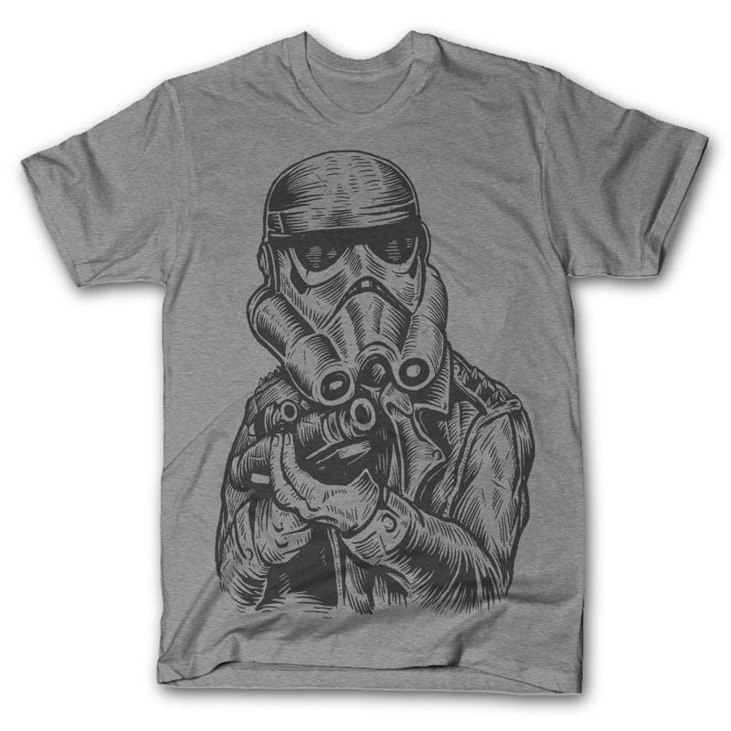 Punktrooper Vector t-shirt design t shirt designs for sale