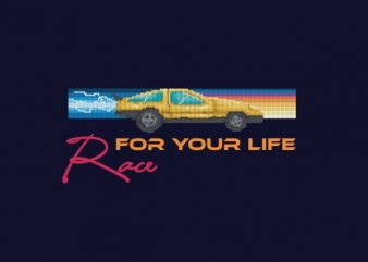 Race For Your Life tshirt design
