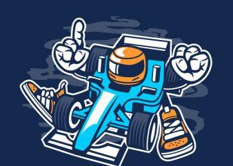 Racer Vector t-shirt design