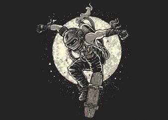 Rebel Skater Vector t-shirt design