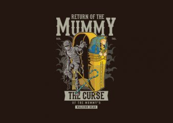 Return Of The Mummy Graphic t-shirt design