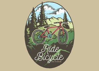 Ride Bicycle Vector t-shirt design