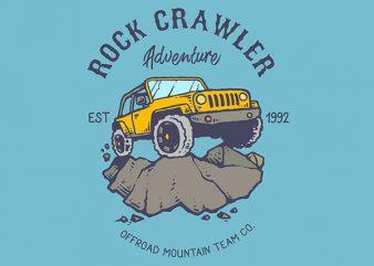 Rock Crawler Adventure Vector t-shirt design