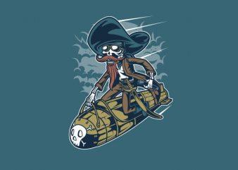 Rocket Rider tshirt design