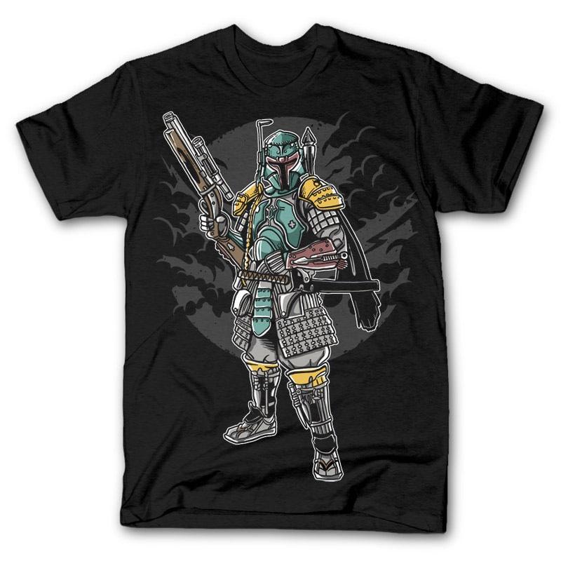 Ronin Hunter Vector t-shirt design buy t shirt designs artwork
