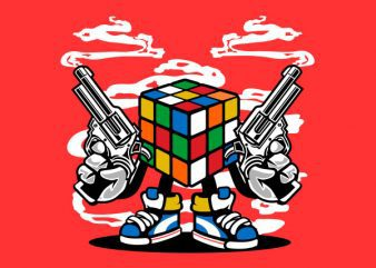 Rubix Killer Vector t-shirt design