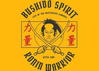 Samurai Graphic t-shirt design
