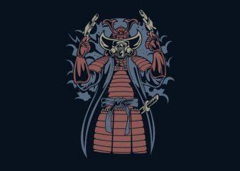 Samurai Apocalypse Vector t-shirt design
