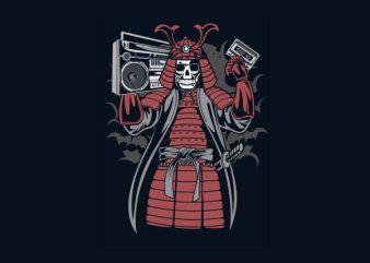 Samurai Boombox Vector t-shirt design
