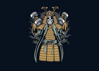 Samurai Gym tshirt design
