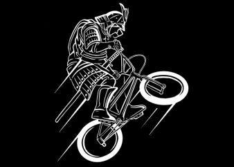 Samurai Rider Vector t-shirt design
