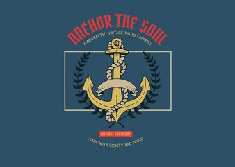 Anchor Graphic t-shirt design