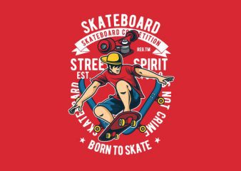 Skateboard Svg Graphic t-shirt design
