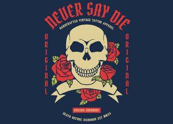 Skull Rose Graphic t-shirt design