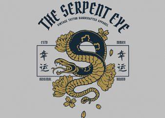 Snake Graphic t-shirt design