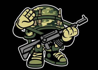 Soldier Vector t-shirt design