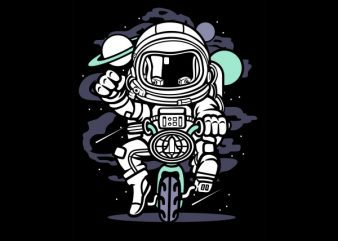 Space Bike Graphic t-shirt design