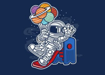 Space Slider Graphic t-shirt design