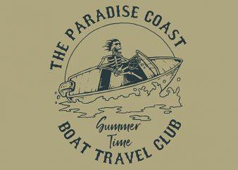 Speed Boat Graphic t-shirt design