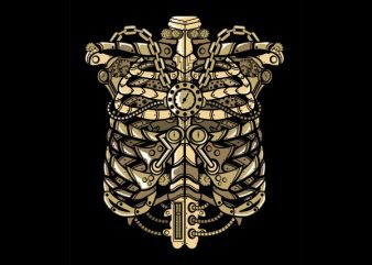 Steampunk Ribcage Graphic t-shirt design