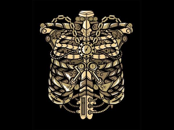 Steampunk Ribcage Graphic t-shirt design