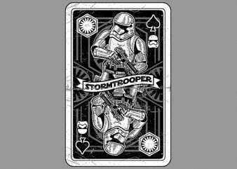 Stormtrooper Playing Card Vector t-shirt design