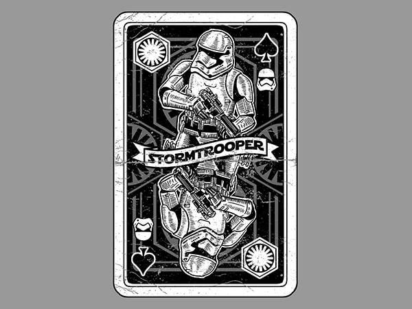 Stormtrooper Playing Card Vector t-shirt design
