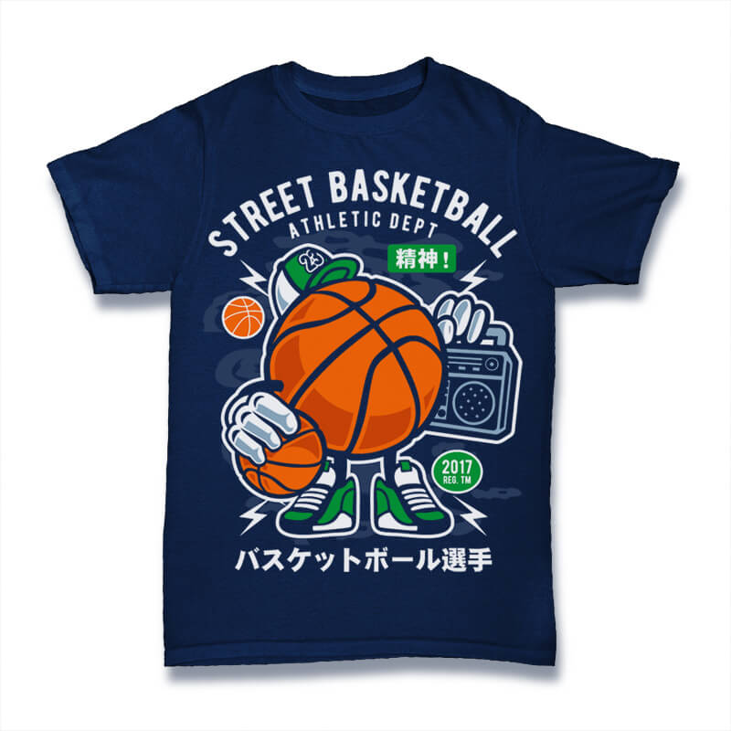 Street Basketball Graphic t-shirt design commercial use t shirt designs
