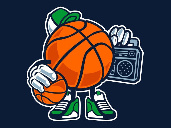 Street Basketball Graphic t-shirt design
