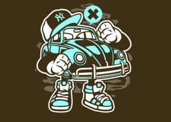 Street Beetle Graphic t-shirt design